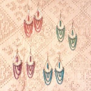 Bellydance Chain Dangle Hook Earrings